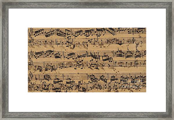 Prelude, Fugue And Allegro In E Flat Framed Print