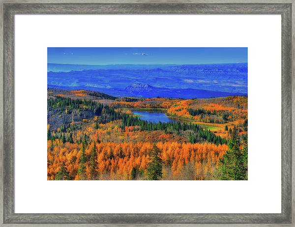 Prelude In Gold And Blue Framed Print