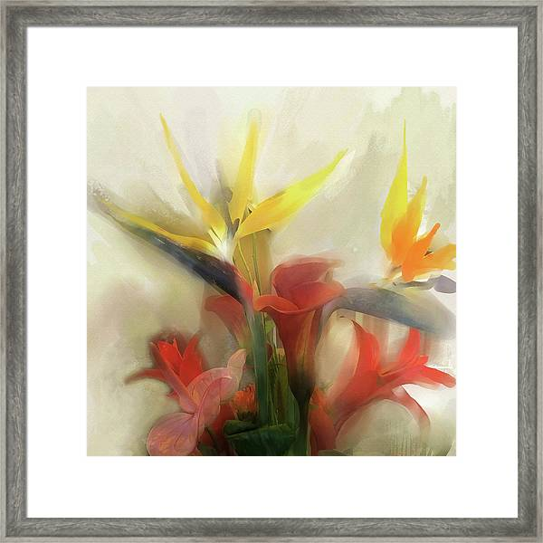 Framed Print featuring the digital art Prelude To Autumn by Gina Harrison