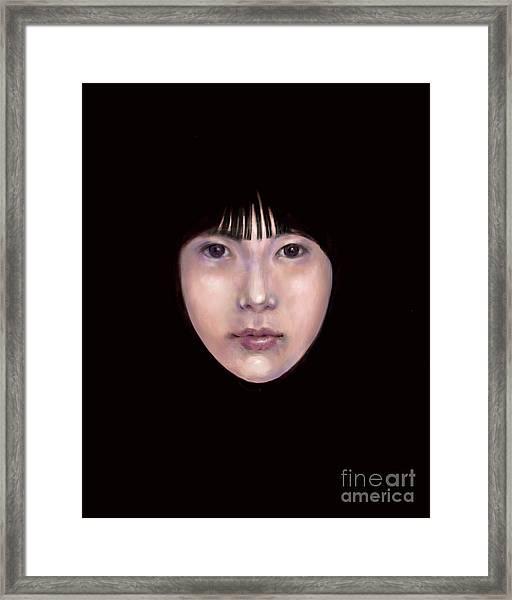 Prescient Moon, Heart Aflame Framed Print