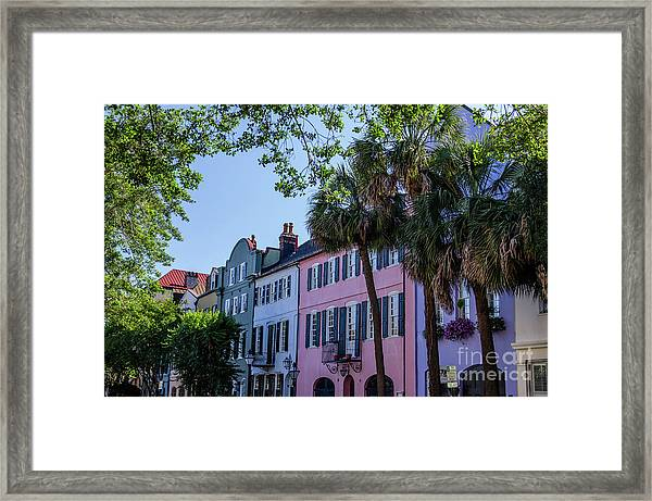 Presenting Rainbow Row  Framed Print