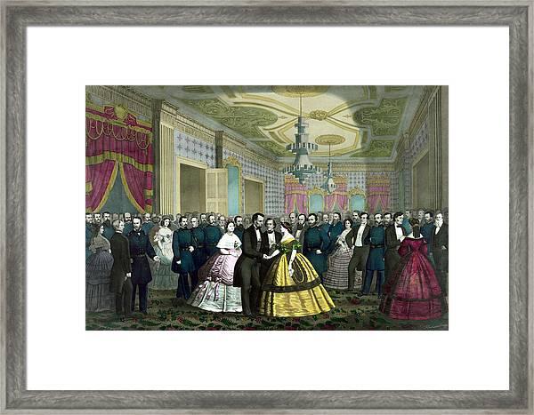 President Lincoln's Last Reception Framed Print
