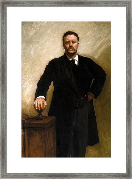 President Theodore Roosevelt Painting Framed Print