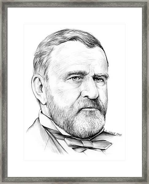 President Ulysses S Grant Framed Print