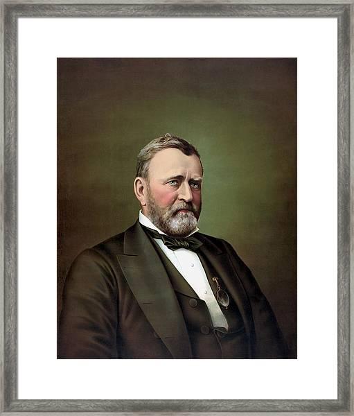 President Ulysses S Grant Portrait Framed Print