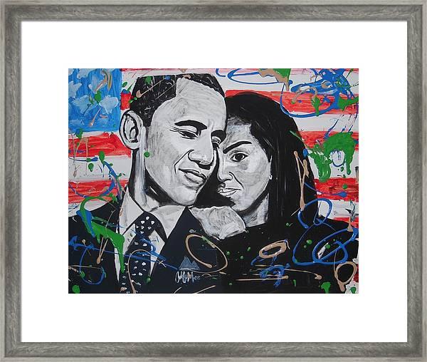 Presidential Love Framed Print