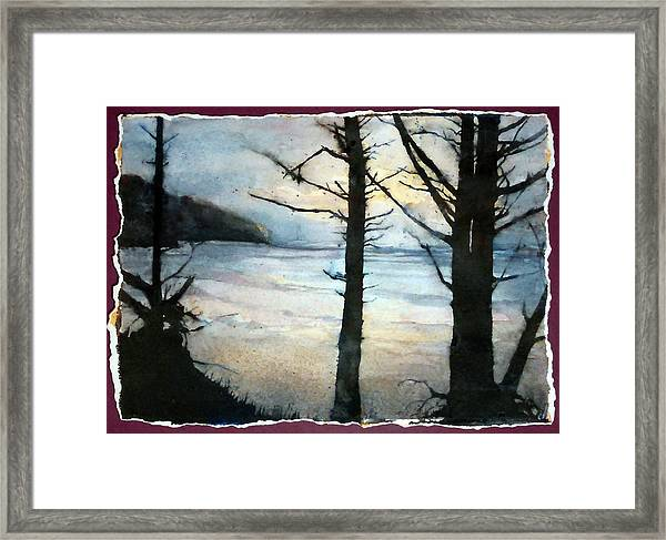 Presque Isle Dawn Framed Print