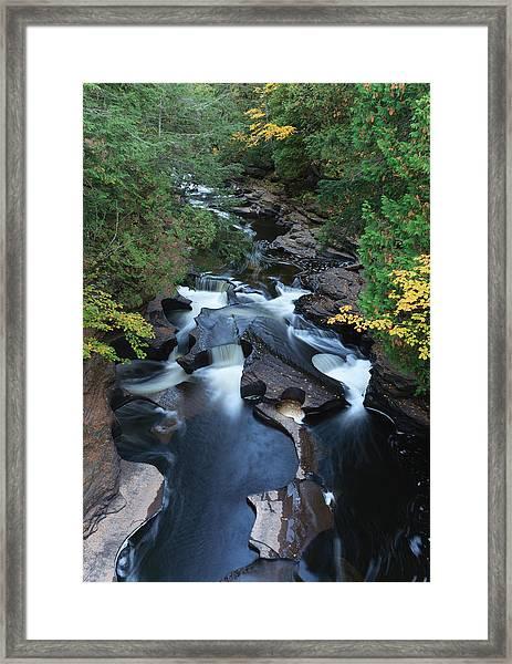 Presque Isle River Framed Print