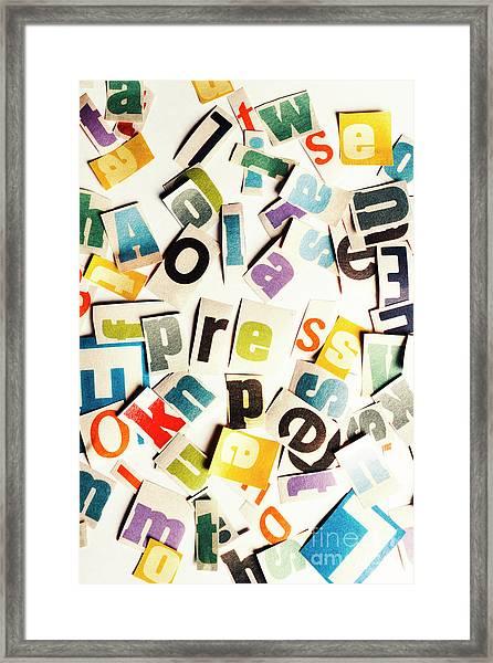 Press Reset Framed Print