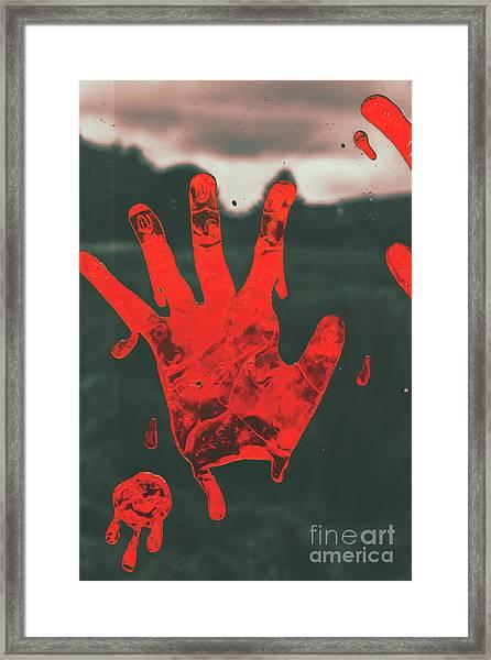 Pressing Terror Framed Print