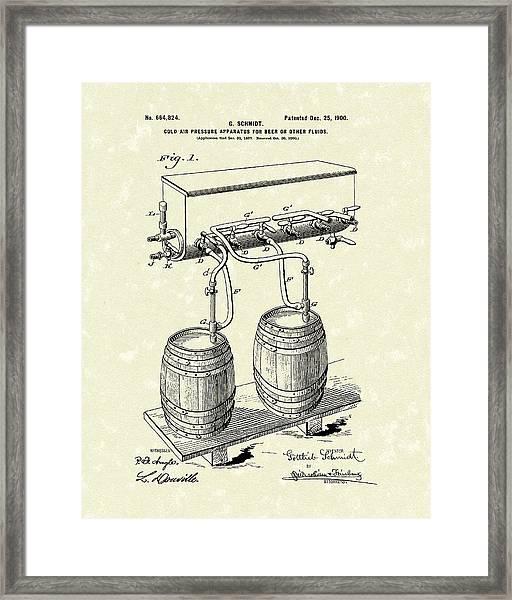 Pressure System 1900 Patent Art  Framed Print