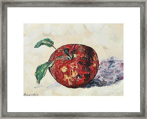 Pretty Apple Framed Print