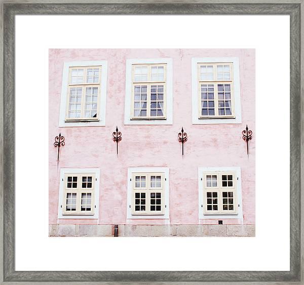 Pretty In Pink- Art By Linda Woods Framed Print