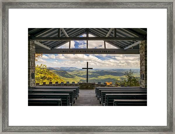 Pretty Place Chapel - Blue Ridge Mountains Sc Framed Print