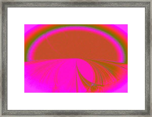 Pretty Road Framed Print