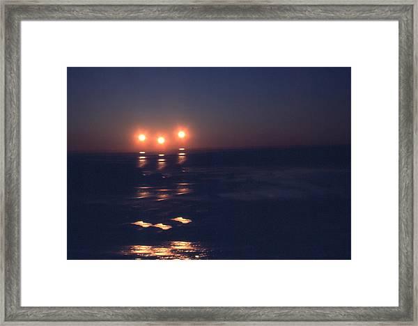 Preventing Sunset Framed Print
