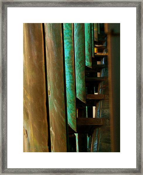 Price Tower Copper Detail 2 Framed Print