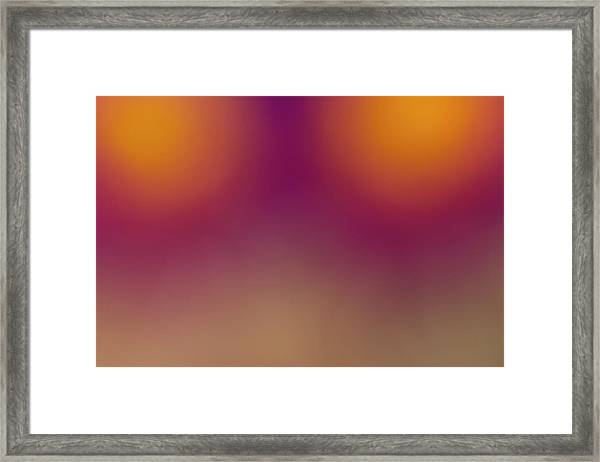 Prickly Pear Abstract Framed Print