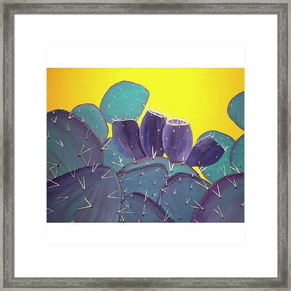 Prickly Pear With Framed Print