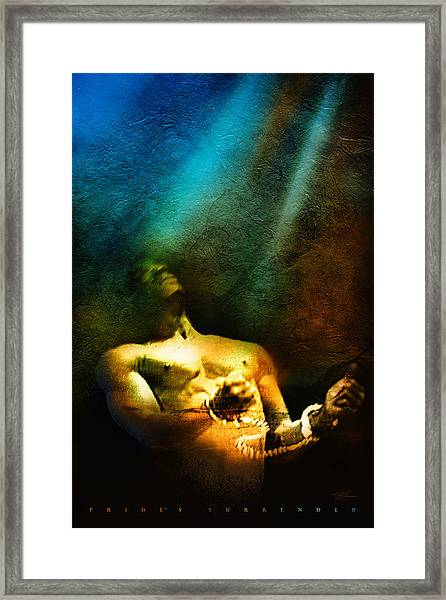 Framed Print featuring the mixed media Pride's Surrender by Shevon Johnson