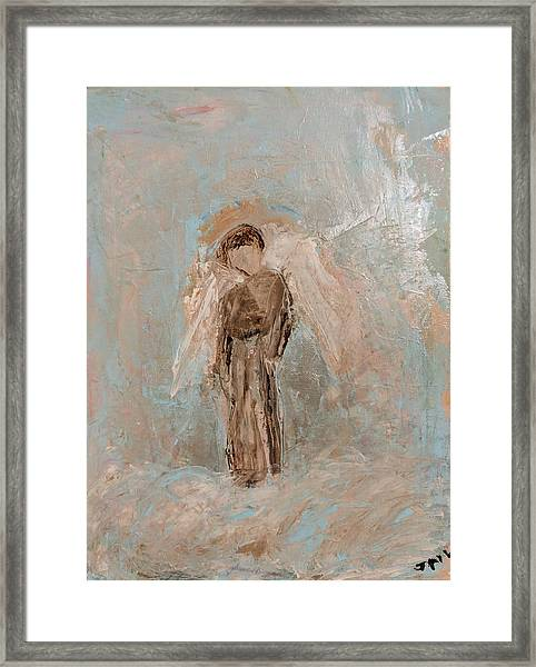 Priest Angel Framed Print