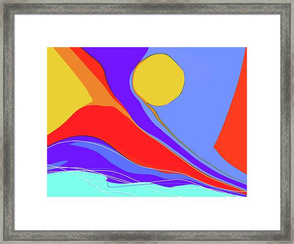 Framed Print featuring the digital art Primarily by Gina Harrison