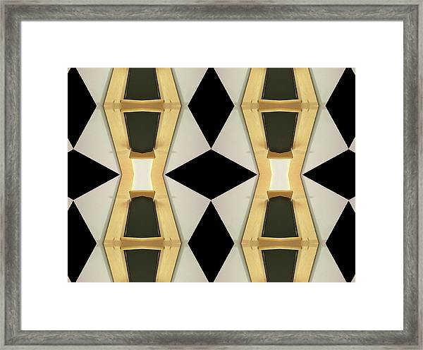 Primitive Graphic Structure Framed Print