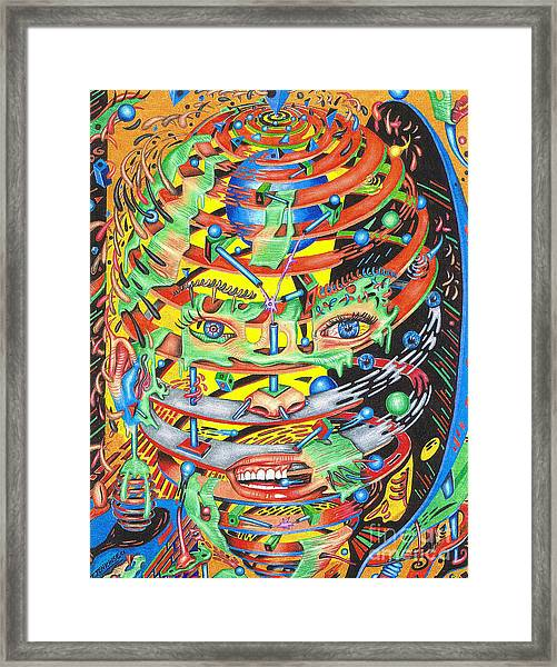 Primordial Inception Of Life At Daybreak Framed Print