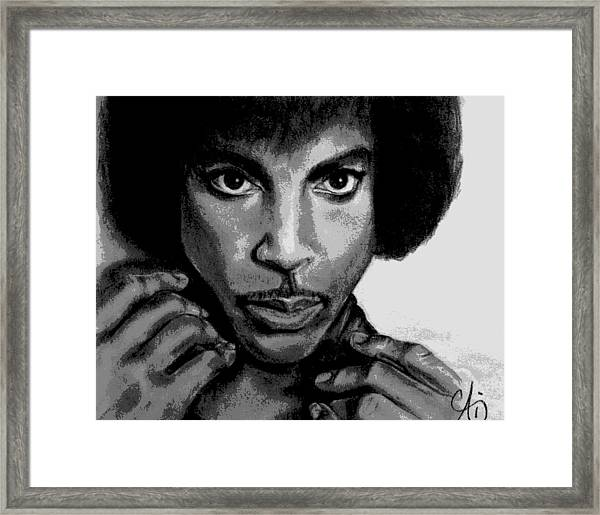 Prince Art - Pencil Drawing From Photography - Ai P. Nilson Framed Print