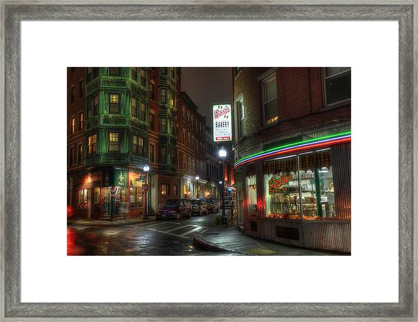 Prince And Salem - North End Boston Framed Print
