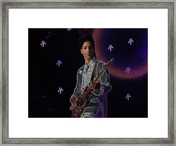 Prince At Coachella Framed Print