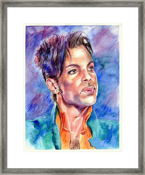 Prince Rogers Nelson Super Bowl 2007 Portrait Framed Print