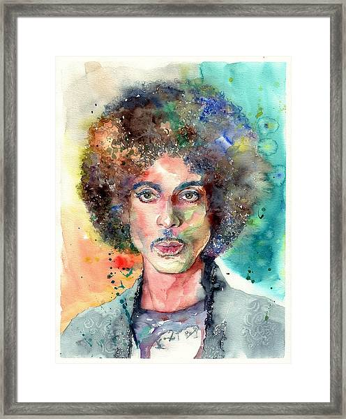 Prince Rogers Nelson Young Portrait Framed Print