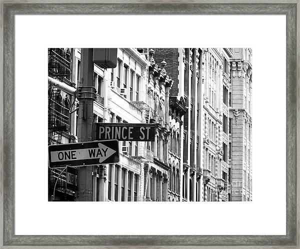 Prince Street Framed Print