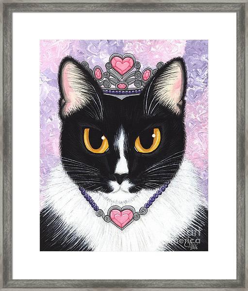 Princess Fiona -tuxedo Cat Framed Print
