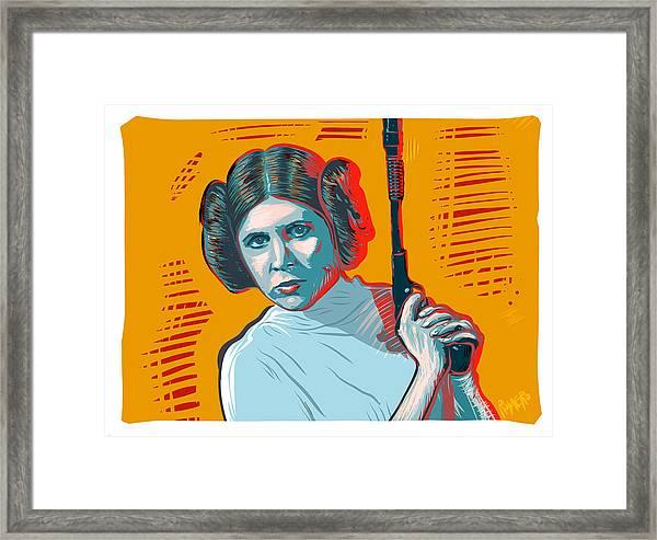 Framed Print featuring the digital art Princess Leia by Antonio Romero