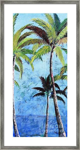 Princeville Palms  Framed Print