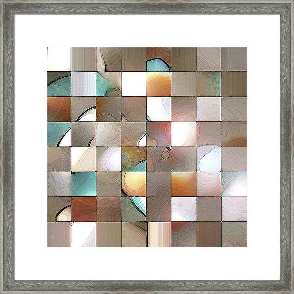 Framed Print featuring the digital art Prism 1 by Gina Harrison
