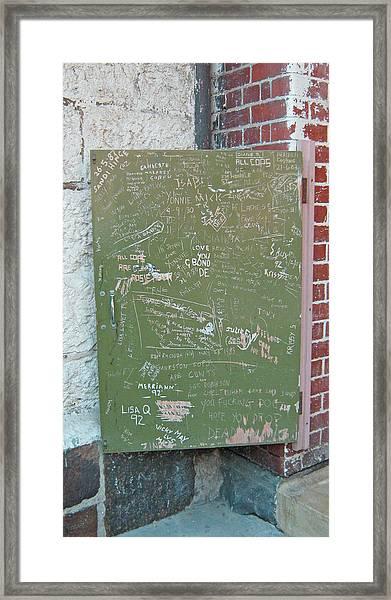Prison Graffiti 2 Framed Print