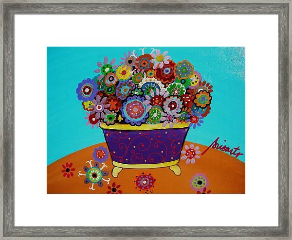 Pristine Flowers Framed Print