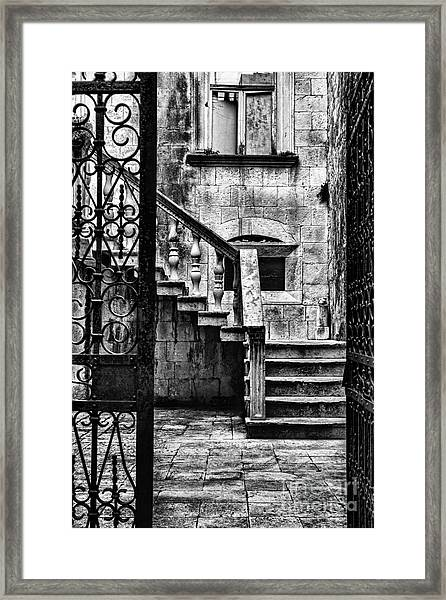 Private Courtyard Framed Print