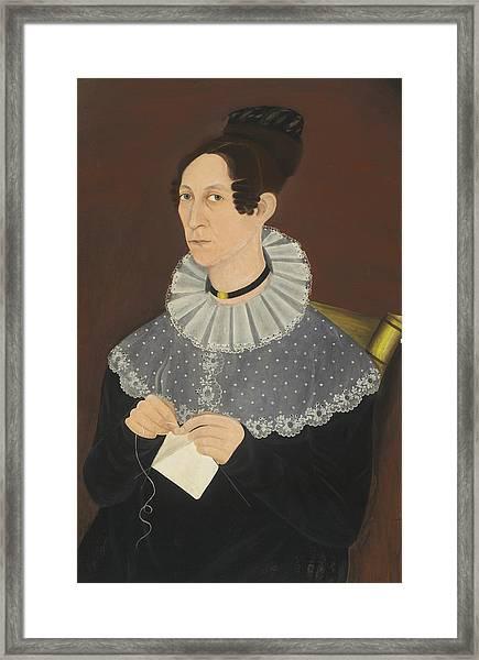 Probably Sarah Cook Arnold Knitting Framed Print