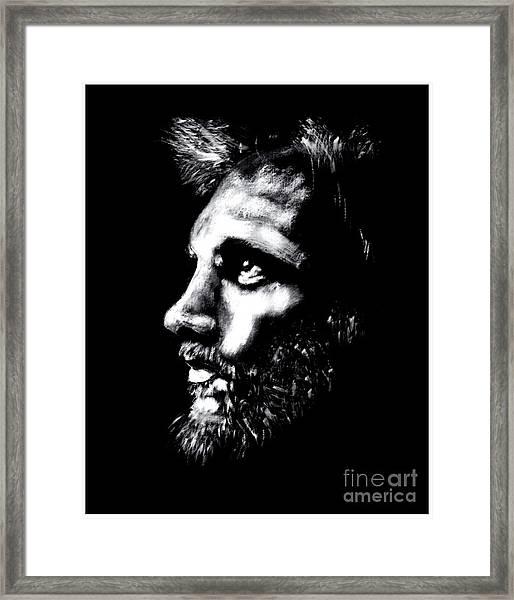 Profile Sketch Framed Print