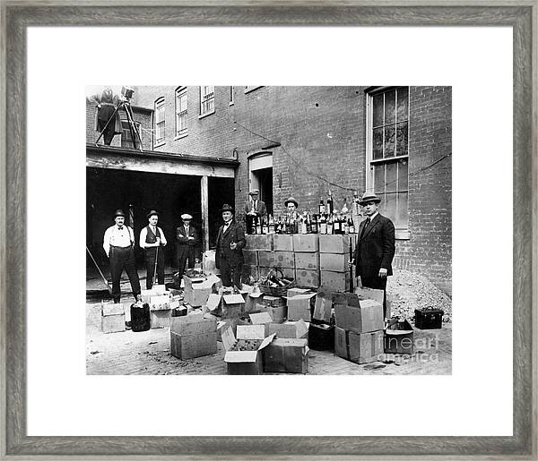 Prohibition, 1922 Framed Print