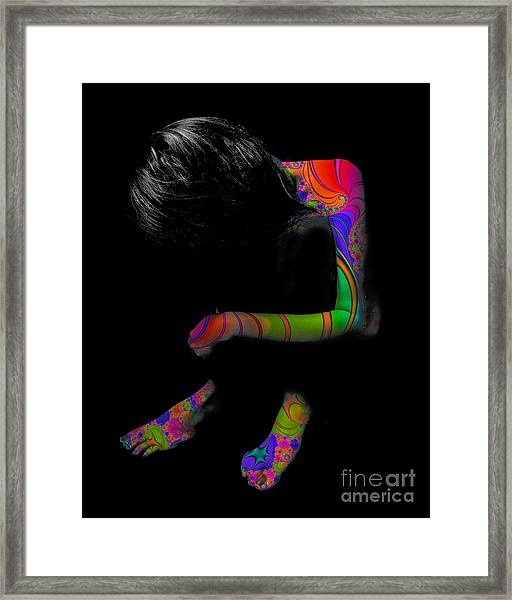 Projected Body Paint 2094915a Framed Print