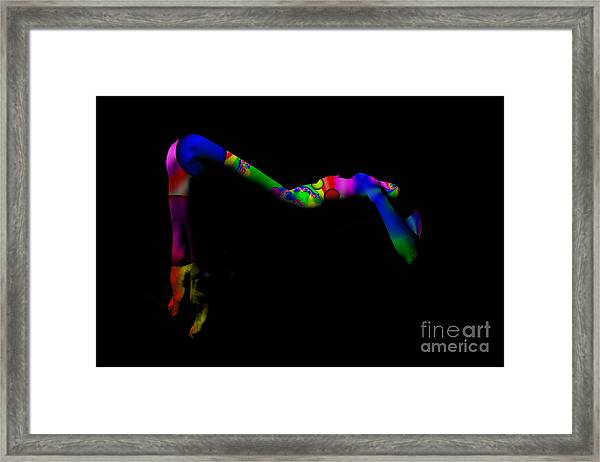 Projected Body Paint 2094947a Framed Print