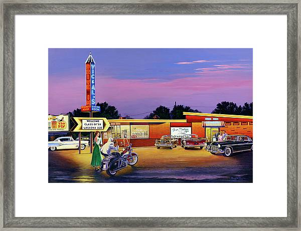 Prom Night - Vic And Al's Framed Print