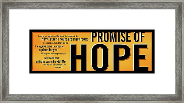 Framed Print featuring the digital art Promise Of Hope by Shevon Johnson