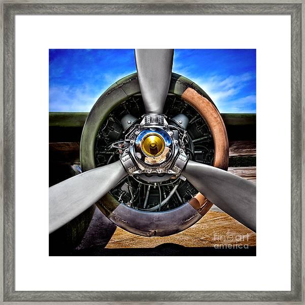 Propeller Art   Framed Print
