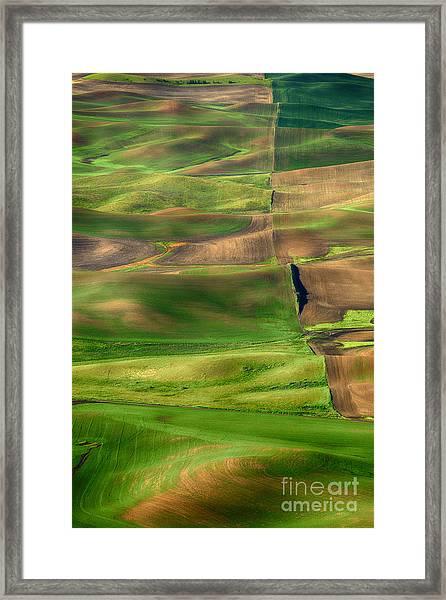 Property Line Framed Print